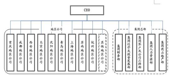 龙湖集团组织结构